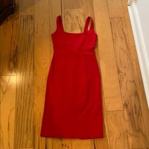 Red fitted dress, never worn